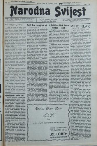 Narodna svijest, 1935/52