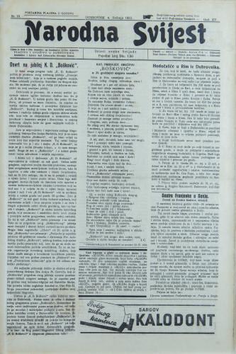 Narodna svijest, 1933/18