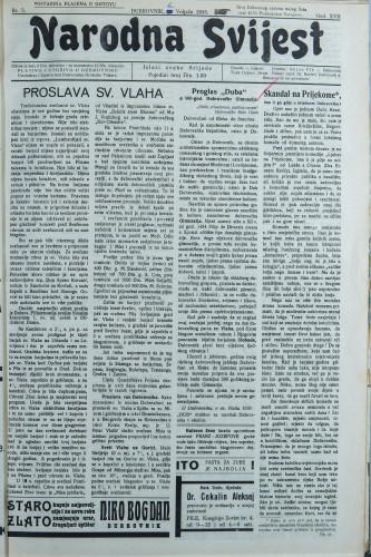 Narodna svijest, 1935/5