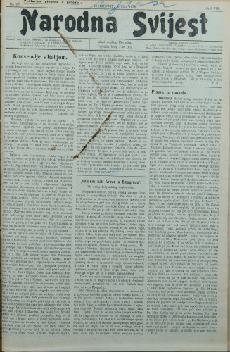 Narodna svijest, 1926/23