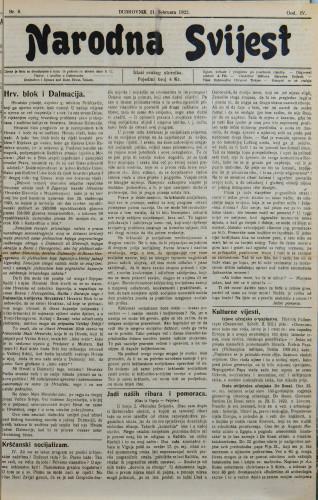 Narodna svijest, 1922/8
