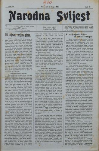 Narodna svijest, 1920/23