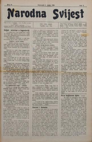 Narodna svijest, 1920/10