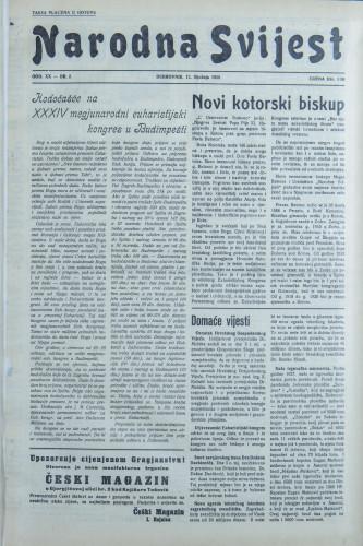 Narodna svijest, 1938/2