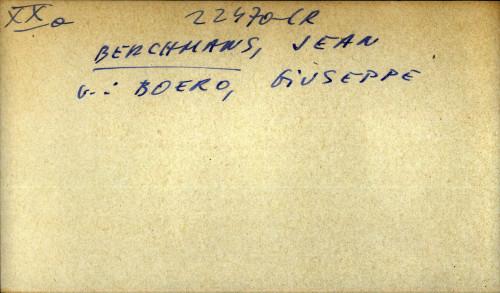 Berchmans, Jean - uputnica