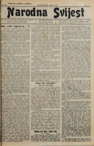 Narodna svijest, 1923/45