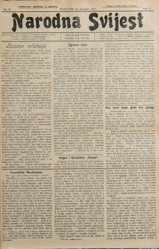 Narodna svijest, 1923/54