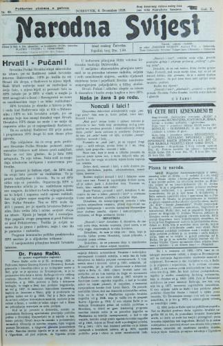 Narodna svijest, 1928/49