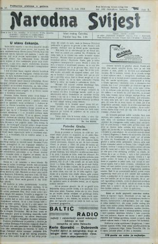 Narodna svijest, 1928/27