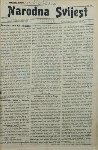 Narodna svijest, 1926/26