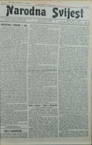 Narodna svijest, 1926/15