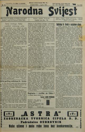 Narodna svijest, 1931/14