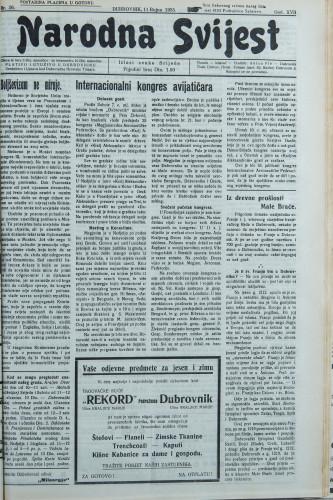 Narodna svijest, 1935/36