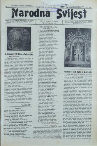 Narodna svijest, 1933/21