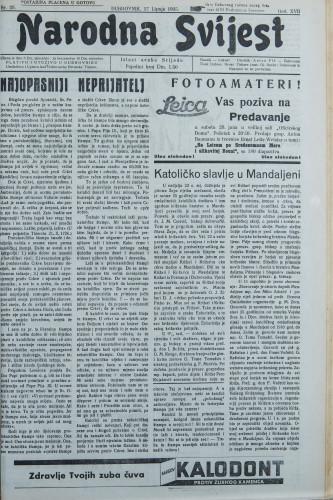 Narodna svijest, 1935/25