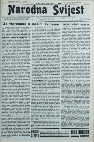 Narodna svijest, 1934/27