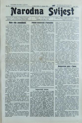 Narodna svijest, 1932/30