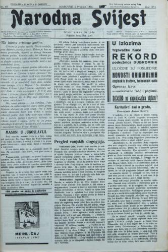 Narodna svijest, 1934/49