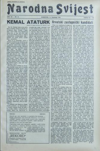 Narodna svijest, 1938/46