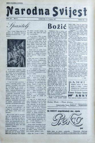 Narodna svijest, 1937/54