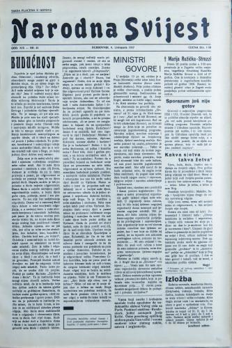 Narodna svijest, 1937/43