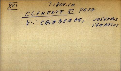 Clemente XI Papa - uputnica
