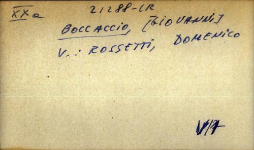 Boccaccio, Giovanni - uputnica