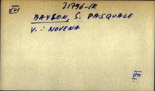 Baylon, S. Pasquale - uputnica