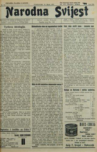 Narodna svijest, 1931/12