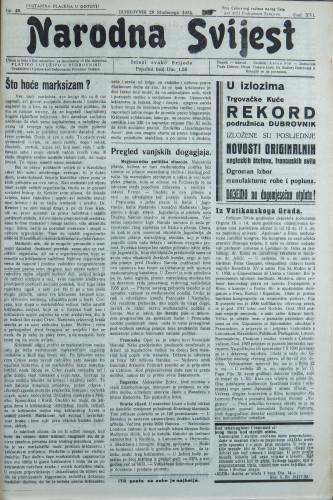 Narodna svijest, 1934/48