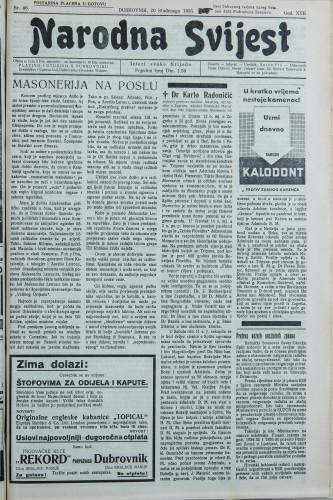 Narodna svijest, 1935/46