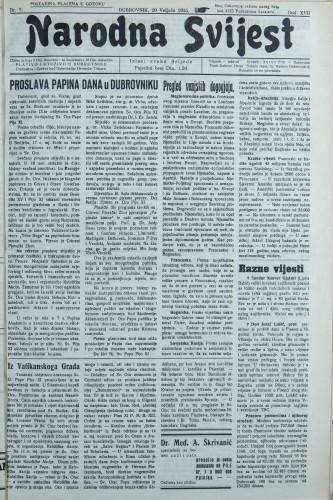 Narodna svijest, 1935/7