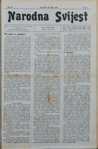 Narodna svijest, 1920/25