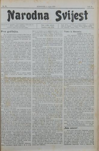 Narodna svijest, 1920/36