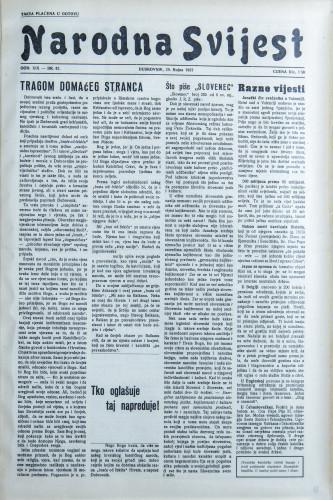 Narodna svijest, 1937/42