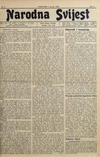 Narodna svijest, 1923/2