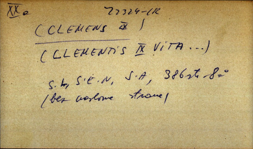 Clementis IX vita ...