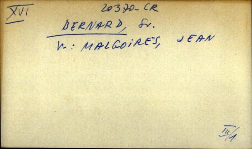 Bernard, Sv. - uputnica