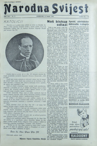 Narodna svijest, 1940/9