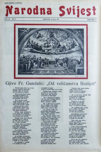 Narodna svijest, 1937/31