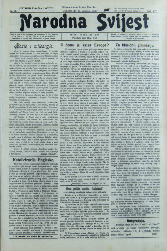 Narodna svijest, 1932/51
