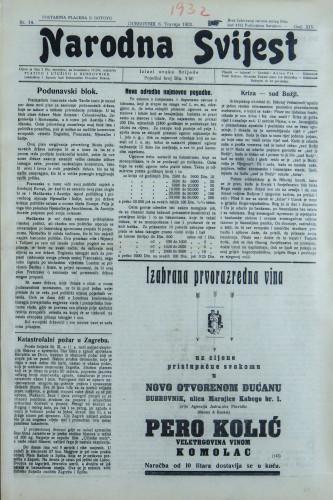 Narodna svijest, 1932/14