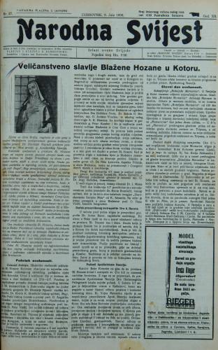 Narodna svijest, 1930/27