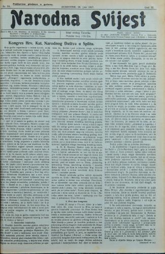 Narodna svijest, 1927/30
