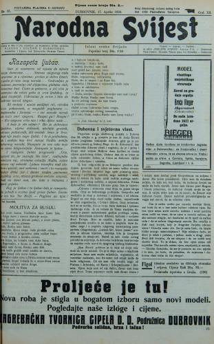 Narodna svijest, 1930/15