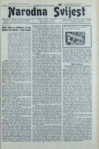 Narodna svijest, 1933/35