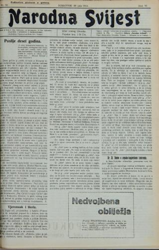 Narodna svijest, 1924/32