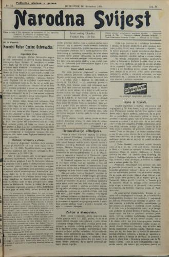 Narodna svijest, 1924/52