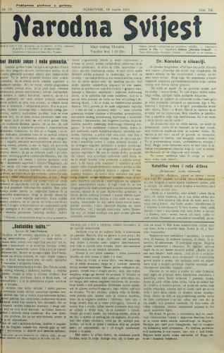 Narodna svijest, 1925/10