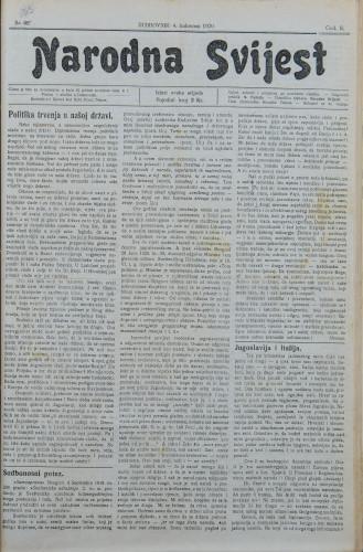 Narodna svijest, 1920/32